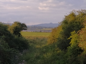 Across the Severn with May Hill on the horizon