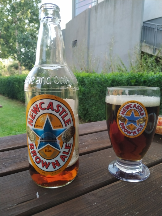 Newky Brown as it's supposed to be drunk (half pint glass)