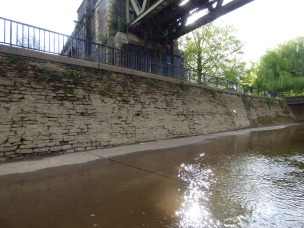 Not much towpath dry